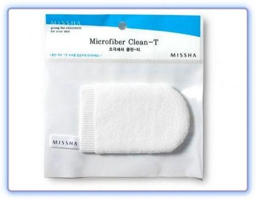 Варежка для очищения Т-зоны лица Microfiber Clean-T