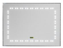 Зеркало Aquanet LED-07C, 80*60, с внутр LED подсветкой, часы+ IR sensor (180763)