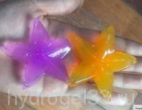 гидрогель в форме звезды