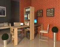 Стеллаж со столом Рикс 455