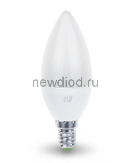 Лампа светодиодная LED-СВЕЧА-standard 7.5Вт 160-260В Е14 4000К 675Лм ASD