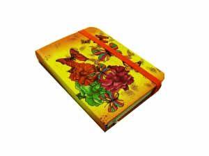 Блокнот Бабочки (10,5*7,5; желтый)