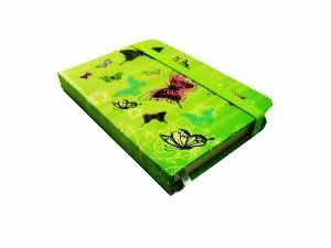Блокнот Бабочки (10,5*7,5; зеленый)
