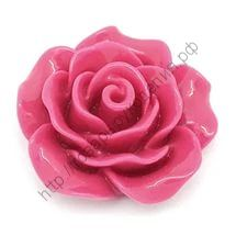 """кабошон """"Роза""""  тёмно-малиновая 20мм"""