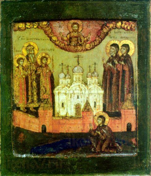 Икона Петр и Феврония (копия 17 века)
