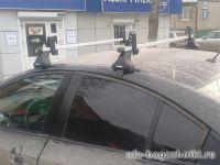 Багажник на крышу Chevrolet Cruze, Атлант, опора Е, прямоугольные дуги