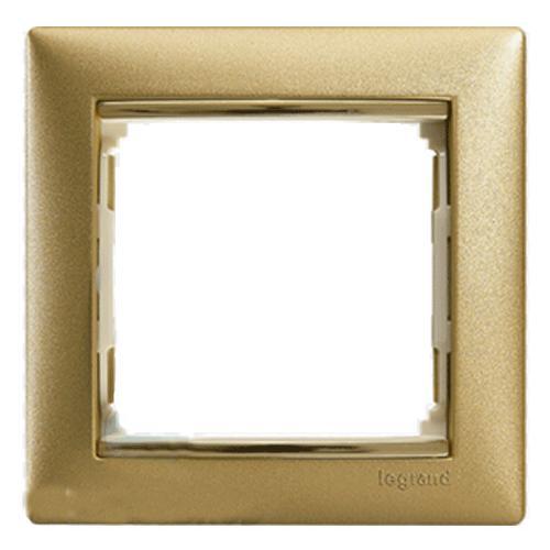 Рамка Valena матовое золото 770301