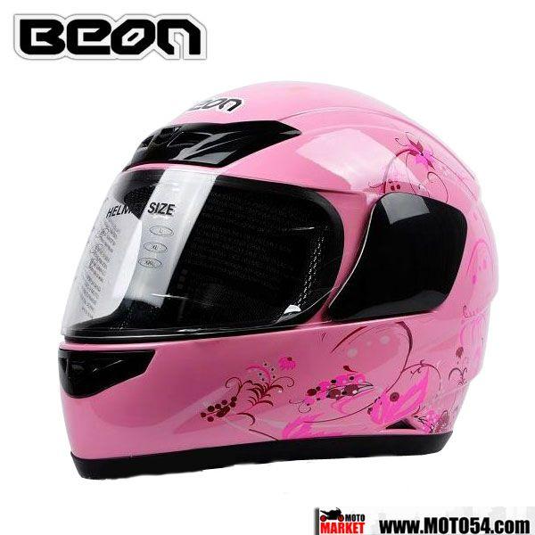 Мотошлем Beon 110 (розовый)