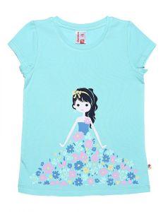 футболка бирюзового цвета для девочки
