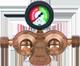 Газобаллонная установка GOK -2 баллона с автоматическим клапаном  (стандарт) Арт. GOK -2 - 0225AUV
