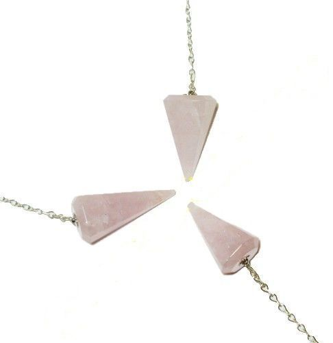 Маятник биолокационный - кулон, розовый кварц