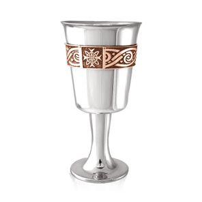 Средневековый кубок из пьютера  Кельтская Роза (медный обод) Celtic Rose Goblet