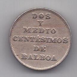 2 1/2 сантима 1929 г. Панама