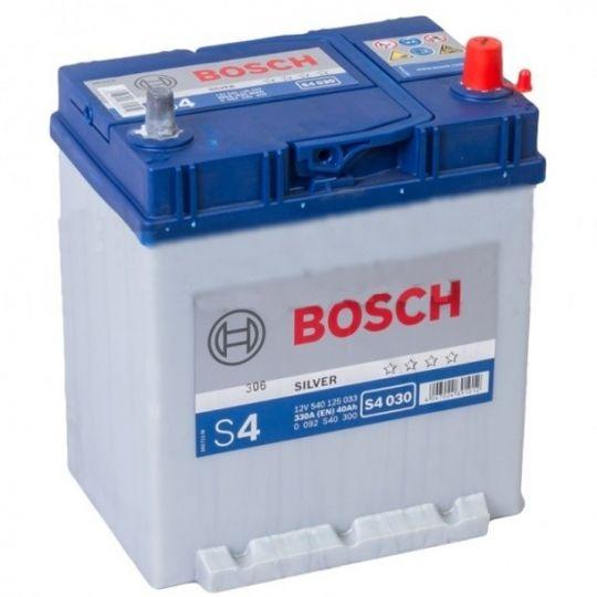 Автомобильный аккумулятор АКБ BOSCH (БОШ) S4 030 / 540 125 033 S4 Silver 40Ач о.п. тонкие клеммы нижн.крепление