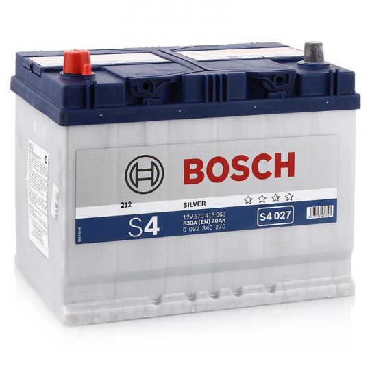 Автомобильный аккумулятор АКБ BOSCH (БОШ) S4 027 / S4 570 413 063 Silver 70Ач п.п. (высок.)