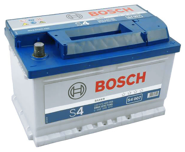 Автомобильный аккумулятор АКБ BOSCH (БОШ) S4 007 / 572 409 068 S4 Silver 72Ач о.п. (низк.)