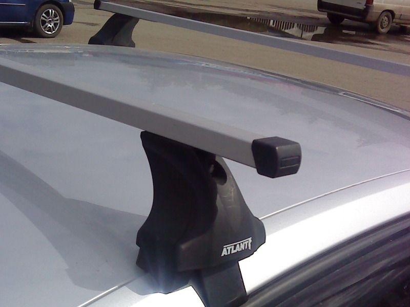 Багажник на крышу Volkswagen Golf 7, Атлант, прямоугольные дуги, опора Е