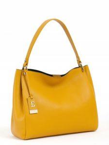 Жёлтая кожаная сумка Eleganzza
