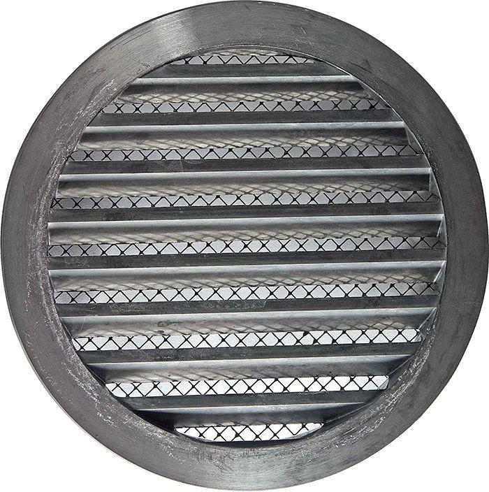 Решетка наружная алюминиевая круглая с фланцем D100