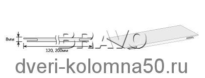 Доборная планка экошпон телескопическая elPORTA
