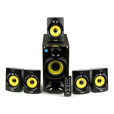 Мультимедийные колонки 5.1 Dialog Progressive AP-510 BLACK - акустические колонки 5.1, 13W+5*3W RMS, Bluetooth, USB