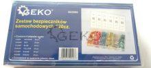 Набор автомобильных предохранителей (5А-30А, 120шт) 'Geko'