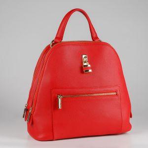 Рюкзак женский 1512510; экокожа; красный