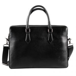 Портфель мужской 0120415394_01; черный; натуральная кожа