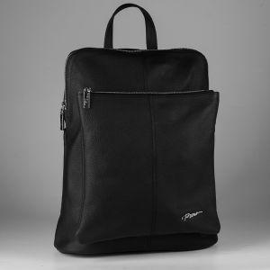 Рюкзак женский 1506516; кожа; черный
