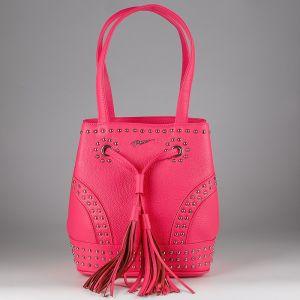 Сумка женская 1506616; кожа; розовый