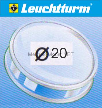 Капсула для монеты Leuchtturm 20 мм, упаковка 10 шт