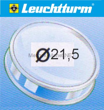 Капсула для монеты Leuchtturm 21,5 мм, упаковка 10 шт