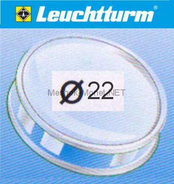 Капсула для монеты Leuchtturm 22 мм, упаковка 10 шт