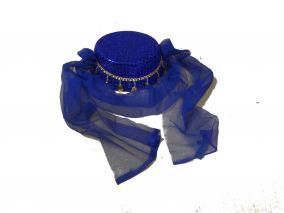 Женский восточный головной убор синий