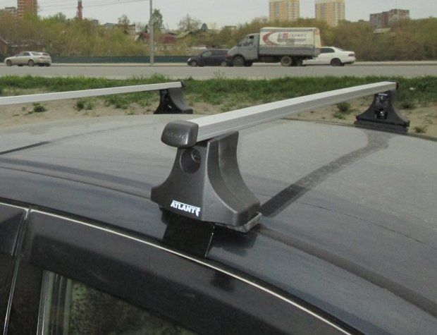 Багажник на крышу Volkswagen Passat B6, Атлант, прямоугольные дуги
