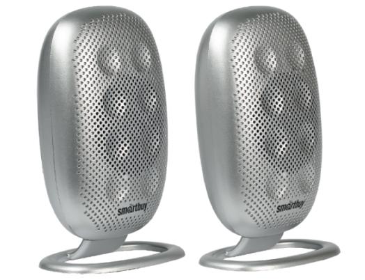 Мультимедийные колонки 2.0 SmartBuy ELECTRA, мощность 6Вт, USB, серебристые