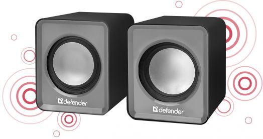 Мультимедийные колонки 2.0 Defender SPK 22 серый, 5 Вт, питание от USB