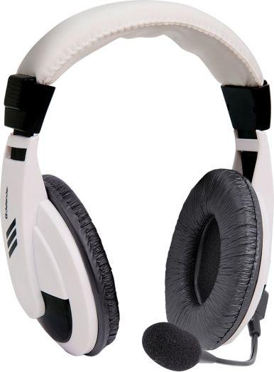 Мониторные наушники с микрофоном Defender Gryphon 750 белый, кабель 2 м