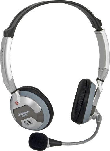 Мониторные наушники с микрофоном Defender Phoenix 928 серый, кабель 3 м