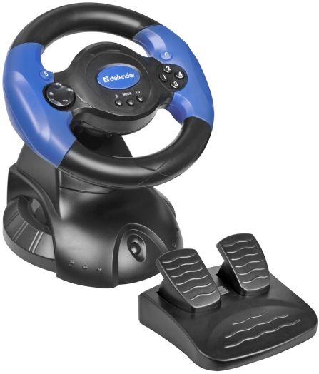 Джойстик-руль Defender Adrenaline Mini LE USB, мини, 10 кнопок