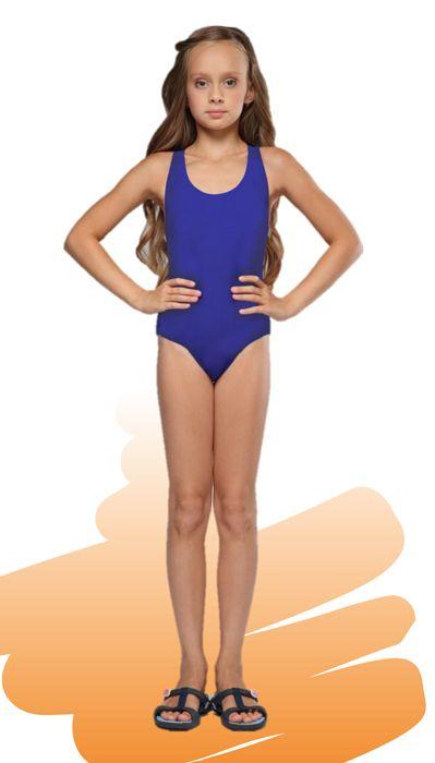 Темно-синий купальник для девочки