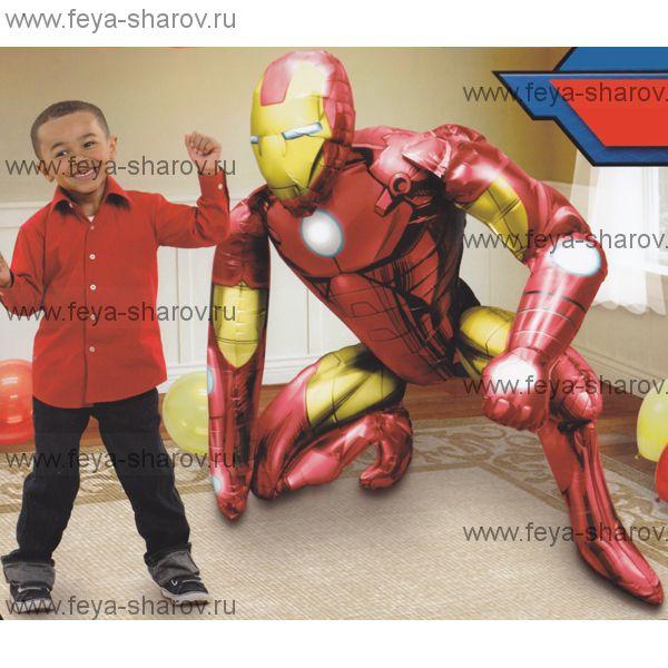 Шар Железный человек 93х116 см
