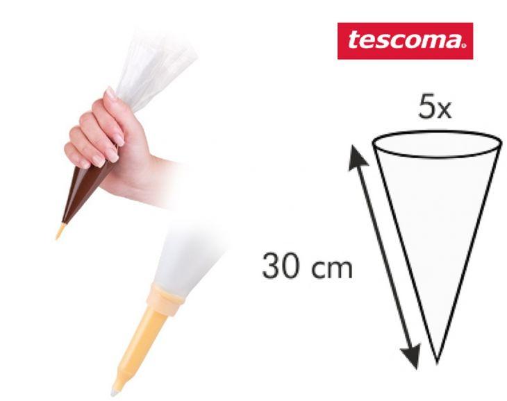 TESCOMA Мешочек для украшения блюд с мини насадкой DELICIA 30 см, 5 шт. 630473