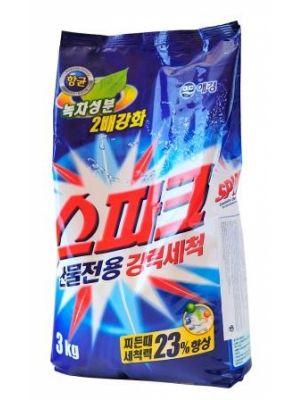Корейский стиральный порошок Спарк Драм Kerasys с кислородным отбеливателем 2.3кг