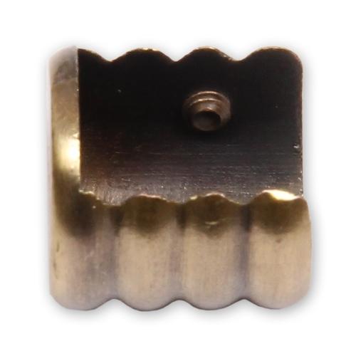 Кронштейн торцевой открытый антик 16 мм