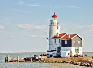 Postcard Lighthouse Marken. Netherlands