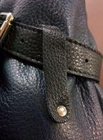 Bufalo BP-01BR чёрный кожаный рюкзак-мешок