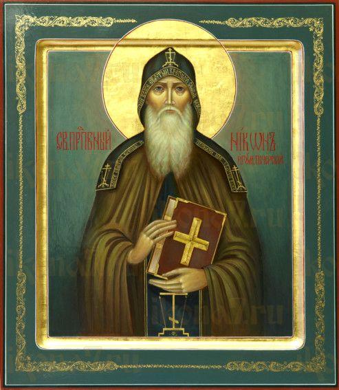 Никон Печерский (рукописная икона)