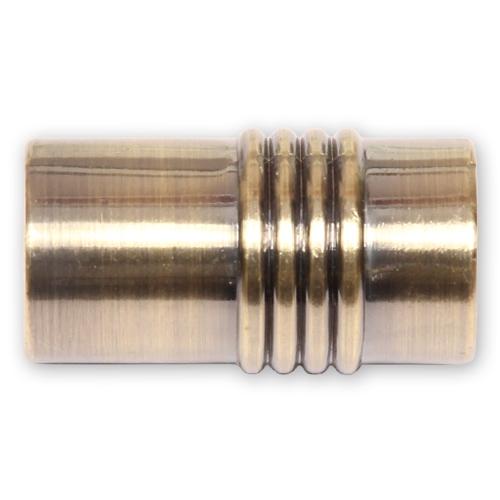 Наконечник Цилиндр рифленый антик 16 мм