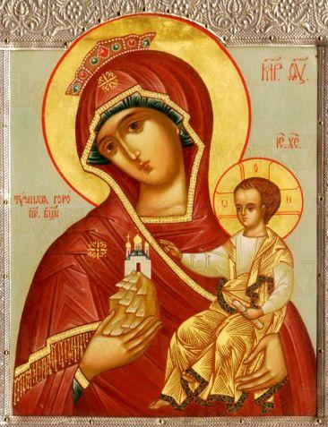 Тучная гора икона Божией Матери (рукописная)